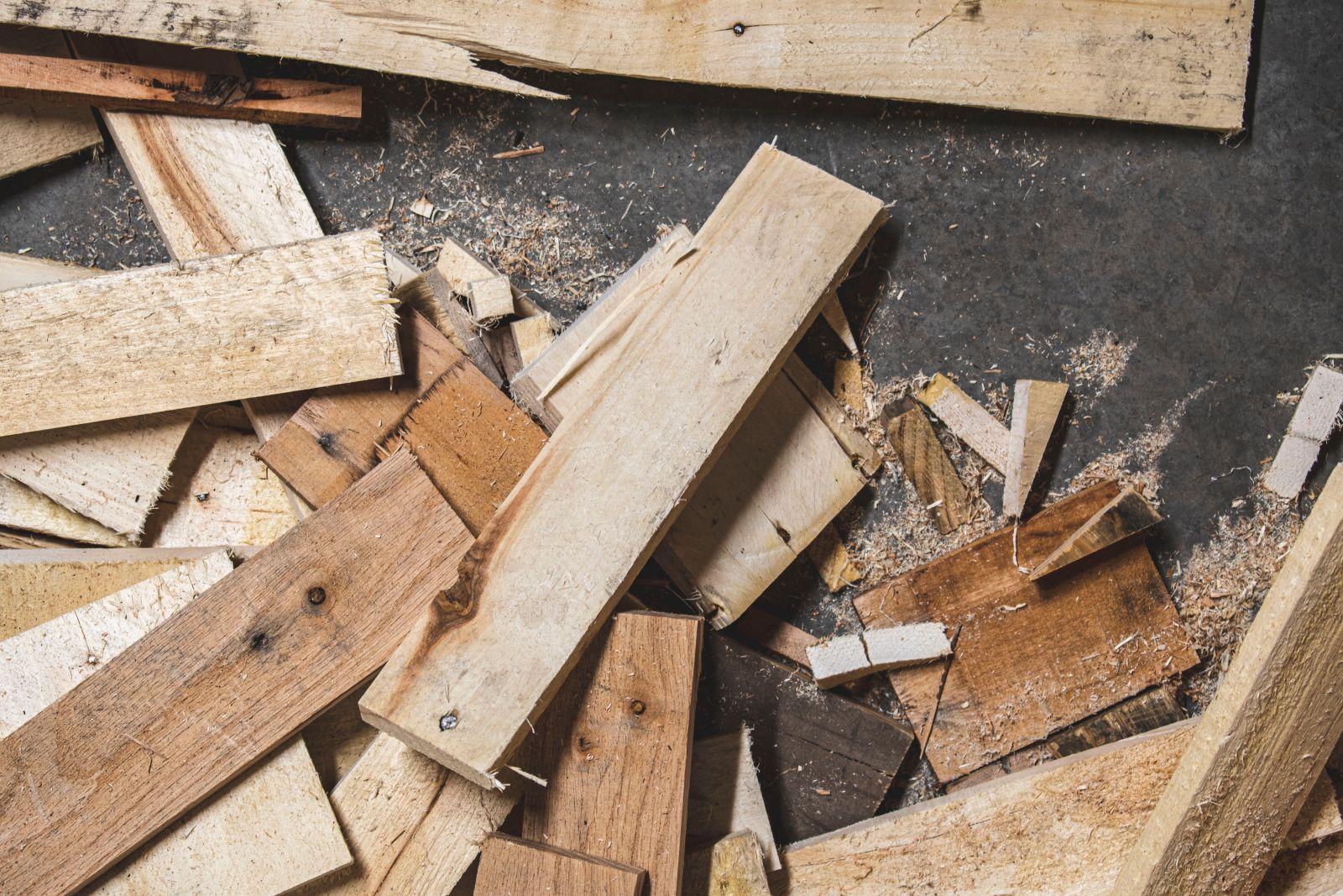 Verzameling houten planken